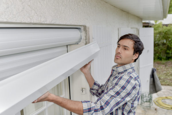 Installing window shutter and architecture